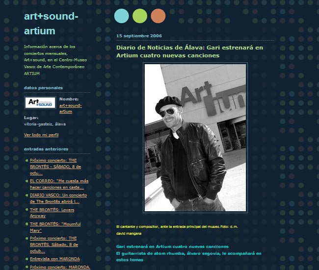 BLOG ART + SOUND