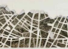 La medida del espacio (línea de tierra), 1996. Detalle